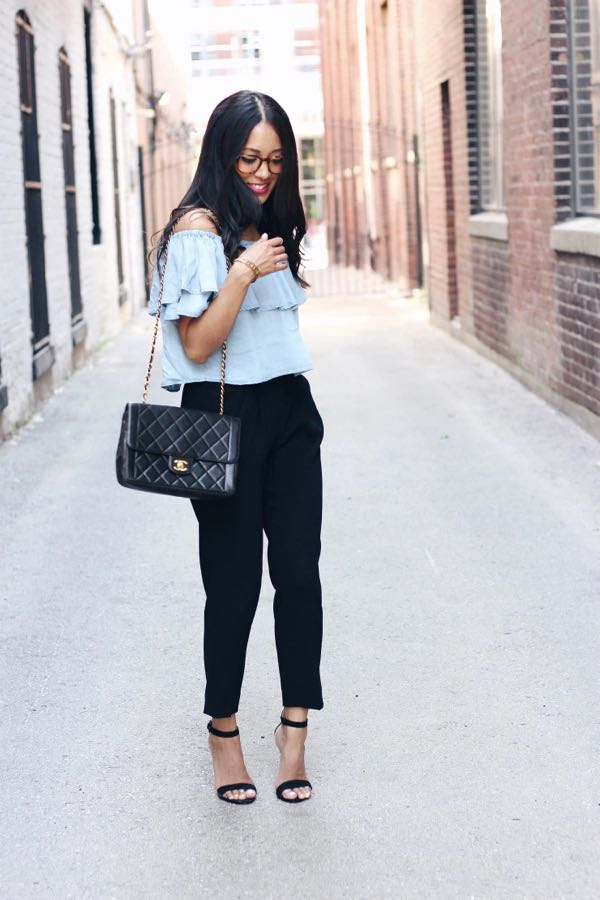 Smokin' Cigarette Pants - With Off Shoulder Tops