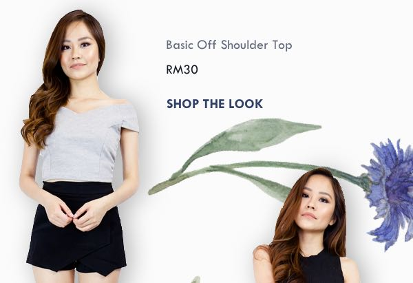 Hook Clothing - Basic Off Shoulder Top